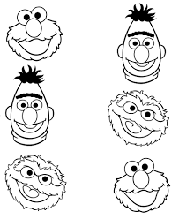ernie coloring pages coloring page