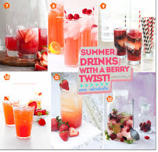 summer cocktails and drinks with berries refreshingly pretty
