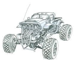 monster trucks drawings concept work steve becker killustrator