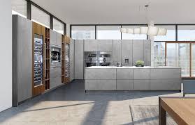 cuisine bois beton cuisine contemporaine en béton en plaqué bois avec îlot ma