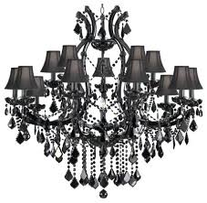 Crystal Drops For Chandeliers Black Shade Crystal Chandelier U2013 Eimat Co