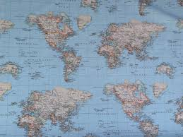 World Map Curtains by Curtain Fabricssofa Fabricsupholstery Fabrics Manufacturer