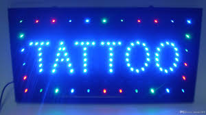shop open sign lights 2018 selling customized led light sign led tattoo sign neon led