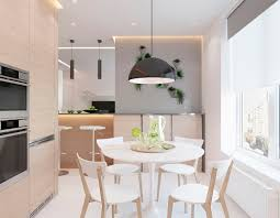 modern apartment concept with modern color scheme and natural wood