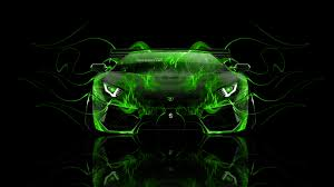 Lamborghini Aventador Neon Green - lamborghini aventador front fire abstract car 2014 el tony