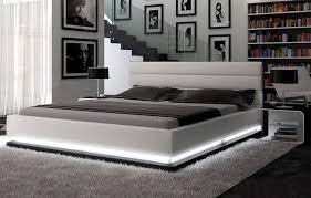 Contemporary Platform Bed Contemporary White Platform Bed W Lights