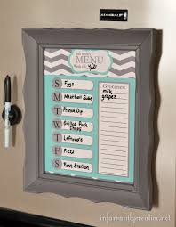 organized home printable menu planner diy crafts ideas dry erase menu planner in thrifted frame plus