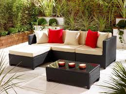 furniture beautiful garden ideas with wicker ottoman and wicker