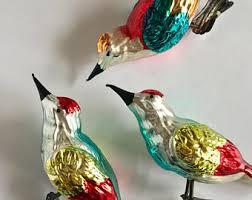glass bird ornament etsy