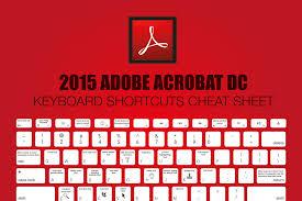 2015 adobe acrobat dc keyboard shortcuts cheat sheet make a