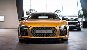 Audi R8 Nardo Grey - orange pearl effect r8 v10 plus refreshes audi showroom