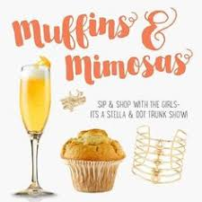customized muffins and mimosas party invitation invitation