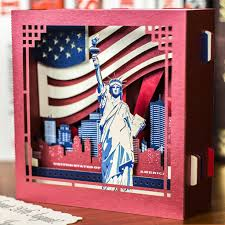 luxury unique handmade greeting pop up card new york statue of