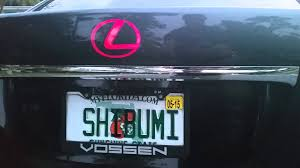 lexus logo front license plate illuminated ghost lexus emblem youtube