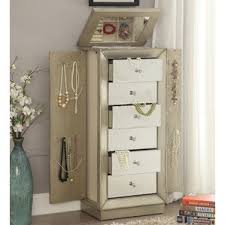 Armoire With Hanging Space Jewelry Armoires You U0027ll Love Wayfair