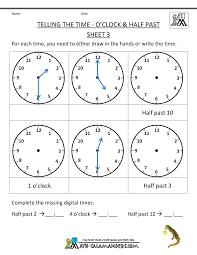 Spanish 1 Worksheets Math Telling Time Worksheets Oclock And Half Past Worksheet