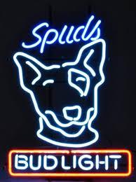 bud light neon light spuds mackenzie bud light neon sign