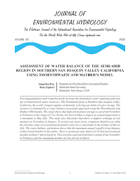 California Vegetaion images Pdf assessment of water balance of the semi arid region in png