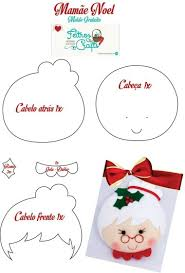 diy mrs claus felt ornament free pattern felt crafts