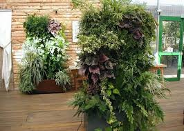 copper vertical garden contemporary landscape garden vertical