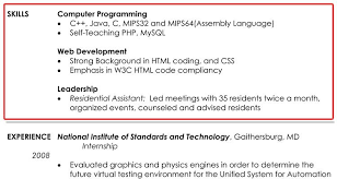 Resume Template With Skills Section Leadership Skills Resume Example Resume Example And Free Resume