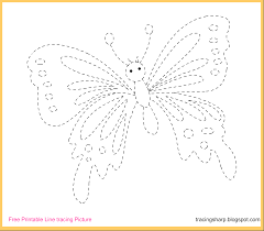 free tracing line printable butterfly tracing picture