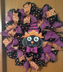diy burlap halloween wreath youtube