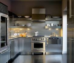 stainless kitchen backsplash chicago stainless steel backsplash kitchen contemporary with
