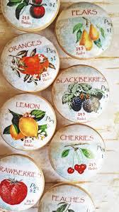 fruit orchard knob drawer pulls 8 handmade vintage labels on