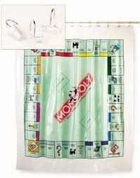 Shower Curtain Vinyl - game curtains monopoly vinyl shower curtain in game board design
