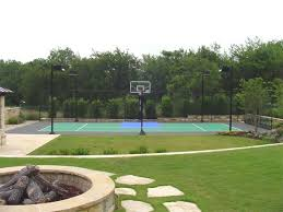 Outdoor Basketball Court Cost Estimate by Dallas Backyard Basketball Courts Sport Court Dallas