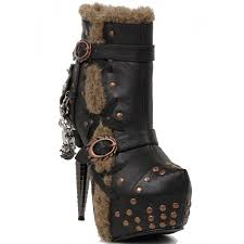 griffin steampunk style gothic ankle boot by hades alternative