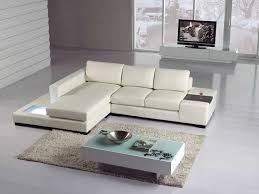 amazon com t35 mini white bonded leather sectional with light