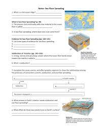 ch 3 lesson 4 notes sea floor spreading