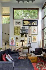 living room with framed wall arts and eclectic decor stylish