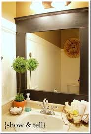 Mirror Trim For Bathroom Mirrors How To Frame A Bathroom Mirror Diy Mirror Moldings And Bathroom