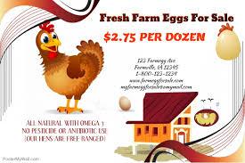 fresh farm eggs for sale template postermywall