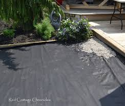 backyard makeover pea gravel patio red cottage chronicles