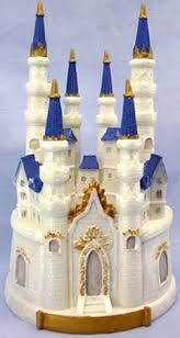 cinderella castle cake topper enchanting castle cake topper or centerpiece measures 9 1 2
