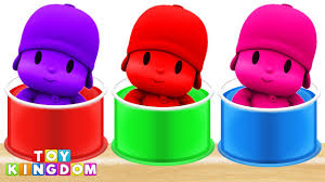 pocoyo bathing colors finger family song nursery rhymes learn