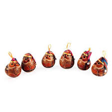 mate gourd bird ornament set of 6 owls