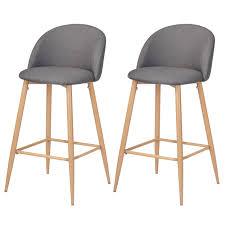 chaises grise chaise de bar cozy grise lot de 2 achetez nos chaises de bar