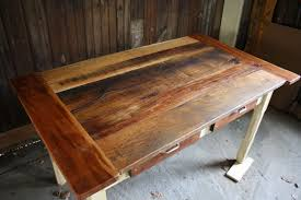 custom reclaimed wood kitchen table by honeybadger woodworks llc