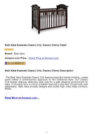 Babi Italia Convertible Crib Bed Rails Babi Italia Eastside Classic Crib Classic Cherry