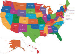 Washington Dc On A Map by Deboomfotografie