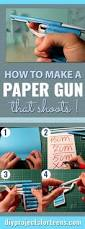 how to make a paper gun that shoots guns craft and diys