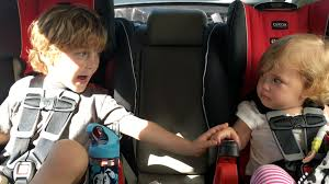 for kids car wash baby kind brother offers moral support to crying baby sister scared of