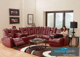 Red Sectional Sofas by Matrix 7 Pc Laf Sectional Red Sectionals Living Room