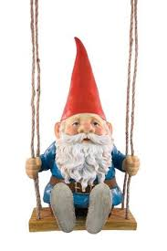 mr swing low gnome on swing outdoor garden gnome ornament home