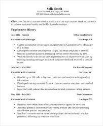 customer service resume 11 free word pdf documents download